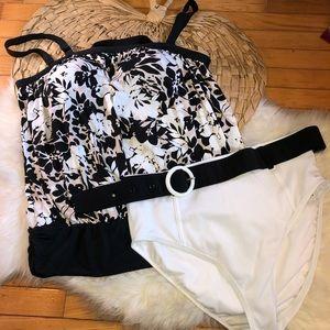 Swimsuits for all 2 pc black white bikini plus NWT